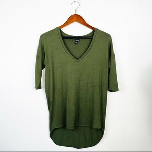 EXPRESS Olive Green 3\4 Sleeve Top XS